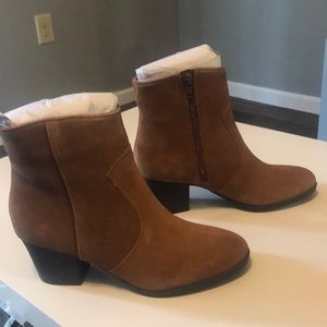 Apt. 9 Genuine Suede Ankle Boots in Taupe